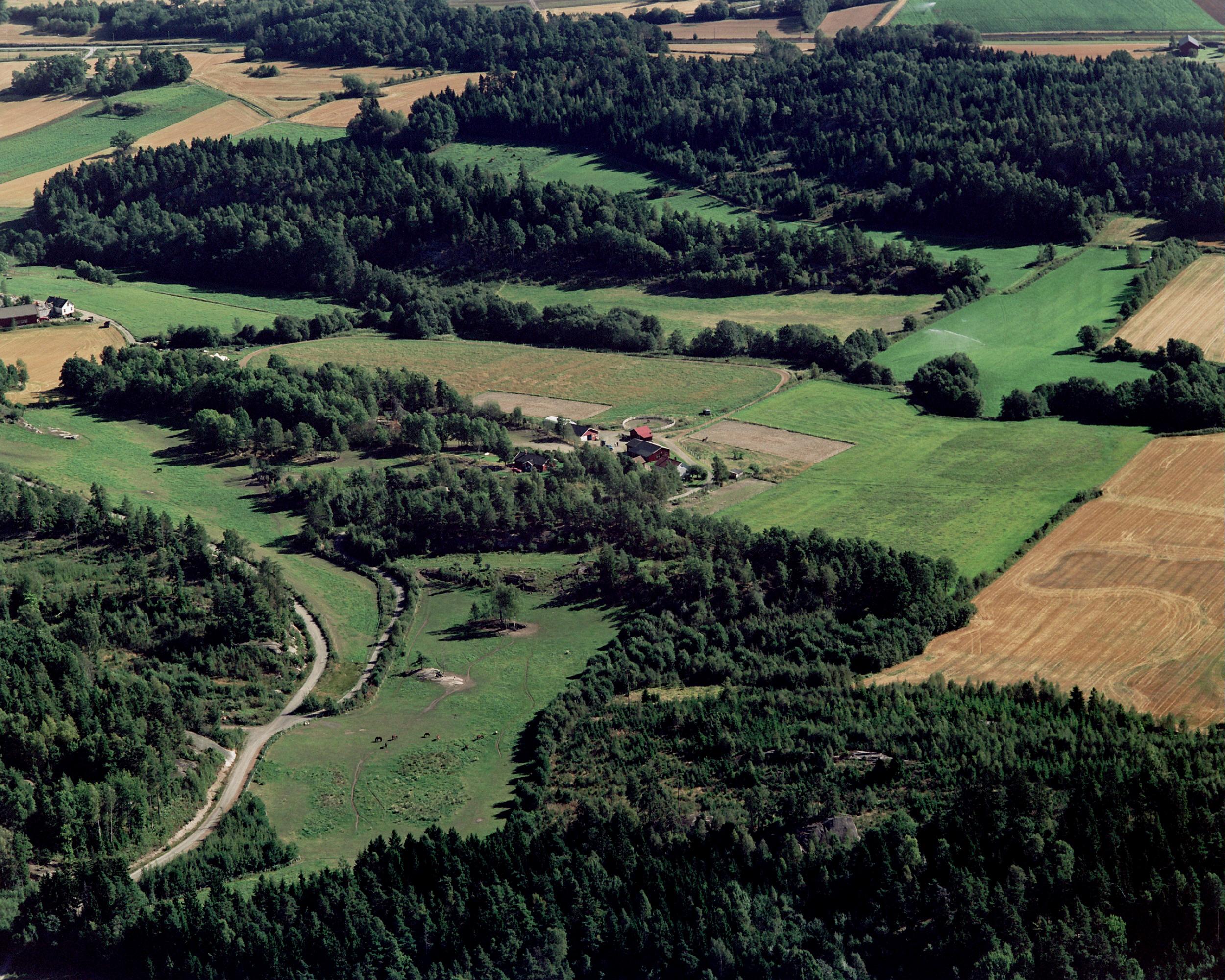 Unghestsenteret i Vestfold sett fra luften